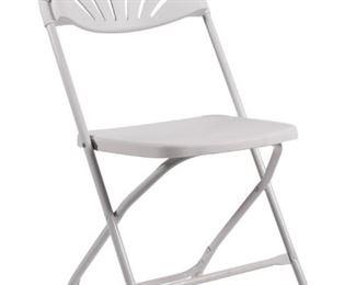 White fan poly chair