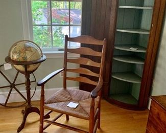 75$ , Antique chair with Cane Seat