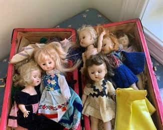 175$ , Lot of Ginny Dolls with Clothing and Case