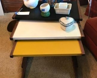 Very cool Mid century modern nesting tables.