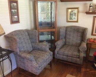 Nice pair of wing chairs
