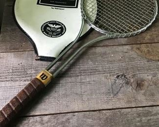 Vintage Wilson tennis racquet United States Lawn Tennis Association. Abercrombie and Fitch cover. $20