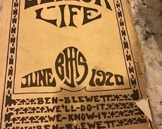 1920 junior Life Yearbook. $25