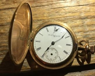 Elgin 10k gold filled pocket watch needs repair $60