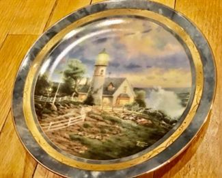 Tomas Kinkade plate 2176a fifth issue in limited ed. A light in the Storm—Seaside Memories $20.