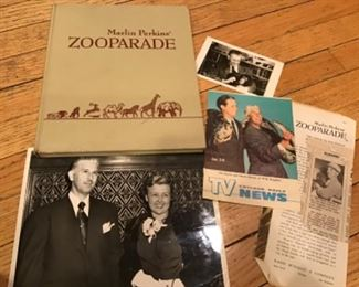 1960 Marlin Perkins Zooparade with personalized book, photos, brochure and newspaper article $39