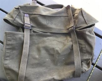 Vintage army backpack $35