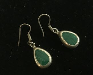 Sterling silver stone earrings $20