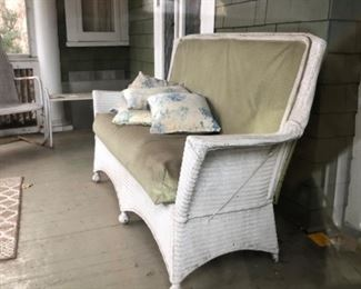 Antique wicker loveseat $85