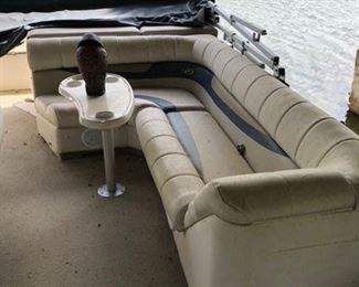 Pontoon boat interior