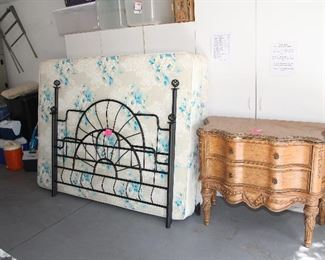 Queen Bed; Dresser; Storage Cabinets