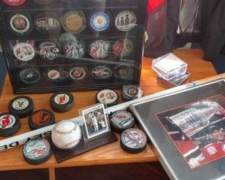 NJ Devils Hockey Memorabilia   $5 to $100  each item