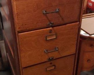 Oak File Cabinet  $450