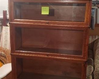 Barrister Book Case   Leaded Glass Beautiful $650
