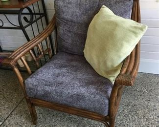 4 matching armchairs...2 different patterns that compliment each other  $275.00 pair