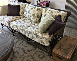 Wicker 3 seat couch $275.00