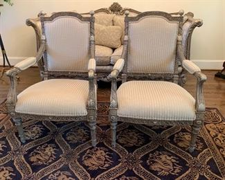 Pre-Sell Pair of Louis XV style chairs.  Excellent condition.  $ 225.00 each
