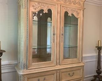 Louis XV Italian Style carved china cabinet.  Stunning $800.00