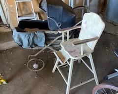Carriage and high chair