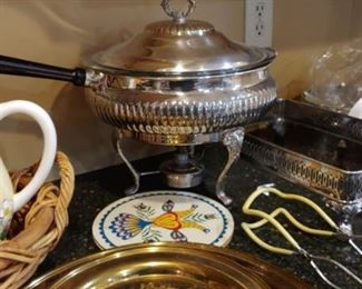 Beautiful silver plated chafing dish