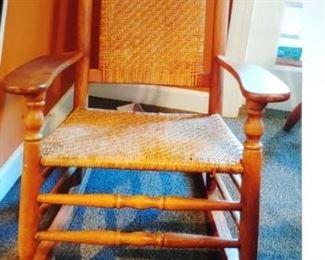 Beautiful large vintage Oak rocking chair