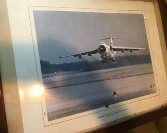 Framed Air Force photo $5