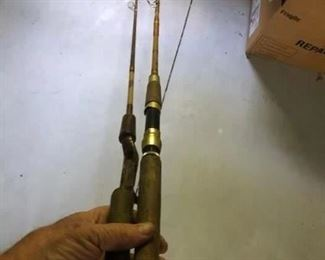 Casting rod $6 Spinning rod $12