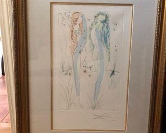 Salvadore Dali signed print