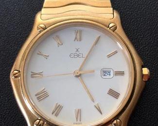 18K Yellow Gold Ebel Sportwave Men's Watch