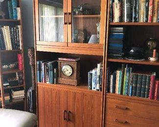 Closed cabinet matches bookcase