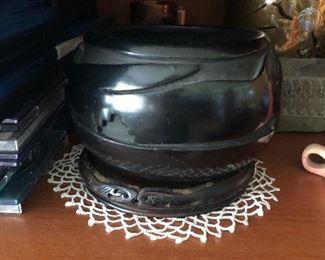 Mida Tafoya carved pot