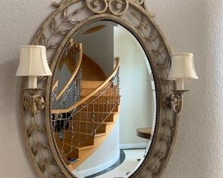Lighted Oval Wall Mirror