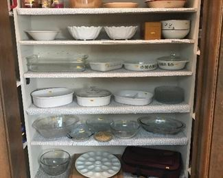 Lots of serving dishes