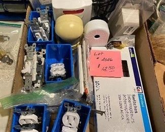 LOT 2026- $12.50 New Electrical parts