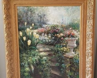 Garden Scene painting - $700