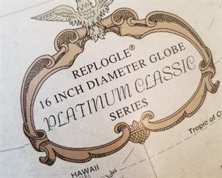 """Replogle 16"""" diameter globe, Platinum Classic Series - $75"""