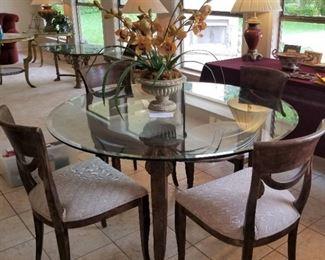 Breakfast table w/glass top - $425