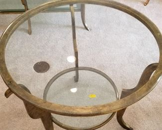 Glass top table - $200