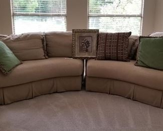 2-pc sectional sofa w/matching pillows - $375