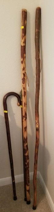 Wooden canes and walking sticks - $6.50 to $24.50
