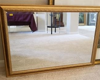 Gold-tone mirror - $55