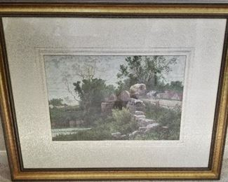 """""""The Old Mill Stream"""" print by A. F. Bellows"""