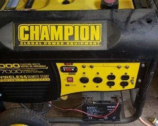 Champion wireless remote Start Generator Brand NEW $550.00 For Appointment Please Call (760)662-7662  or Email tanya@crowncityestatesalebytanya.com