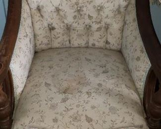 Vintage Chair $45.00 For Appointment Please Call (760)662-7662  or Email tanya@crowncityestatesalebytanya.com