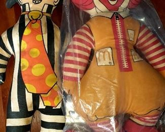 Vintage Ronald Mc Donald and grimaces  Dolls $        For Appointment Please Call (760)662-7662  or Email tanya@crowncityestatesalebytanya.com