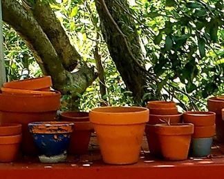 Assorted Terracotta Pots $5.00 -25.00 For Appointment Please Call (760)662-7662  or Email tanya@crowncityestatesalebytanya.com