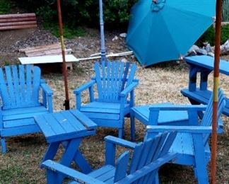 Outdoor Adirondack Chairs $15.00 each For Appointment Please Call (760)662-7662  or Email tanya@crowncityestatesalebytanya.com