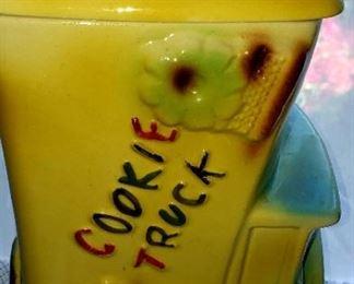 Vintage Cookie Truck Cookie Jar $25.00 For Appointment Please Call (760)662-7662  or Email tanya@crowncityestatesalebytanya.com