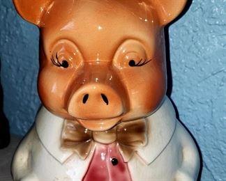 Vintage Pig Cookie Jar $20.00 For Appointment Please Call (760)662-7662  or Email tanya@crowncityestatesalebytanya.com