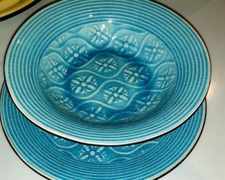 Pier 1 Bowl & Plate $10.00 For Appointment Please Call (760)662-7662  or Email tanya@crowncityestatesalebytanya.com